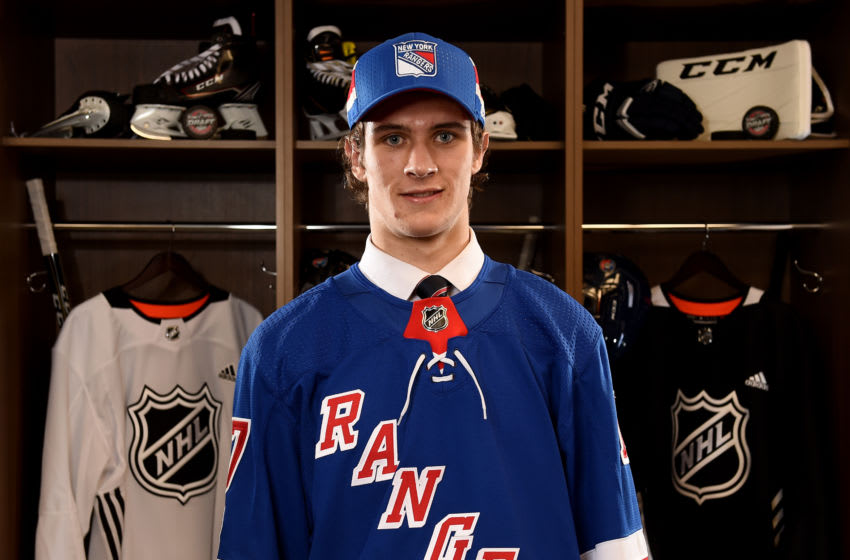 Morgan Barron, 174th overall pick of the New York Rangers, (Photo by Stacy Revere/Getty Images)