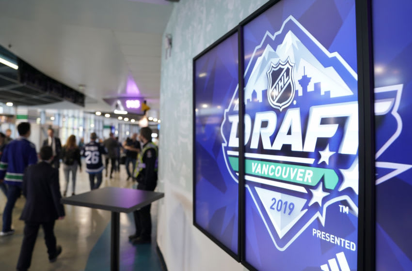 VANCOUVER, BRITISH COLUMBIA - JUNE 22: A general view of the 2019 NHL Draft at Rogers Arena on June 22, 2019 in Vancouver, Canada. (Photo by Rich Lam/Getty Images)
