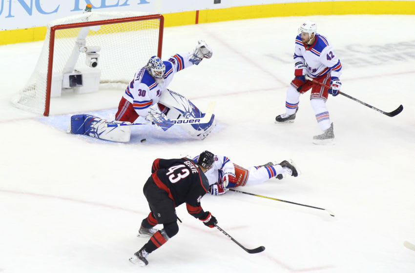 Henrik Lundqvist #30 of the New York Rangers (Photo by Andre Ringuette/Freestyle Photo/Getty Images)