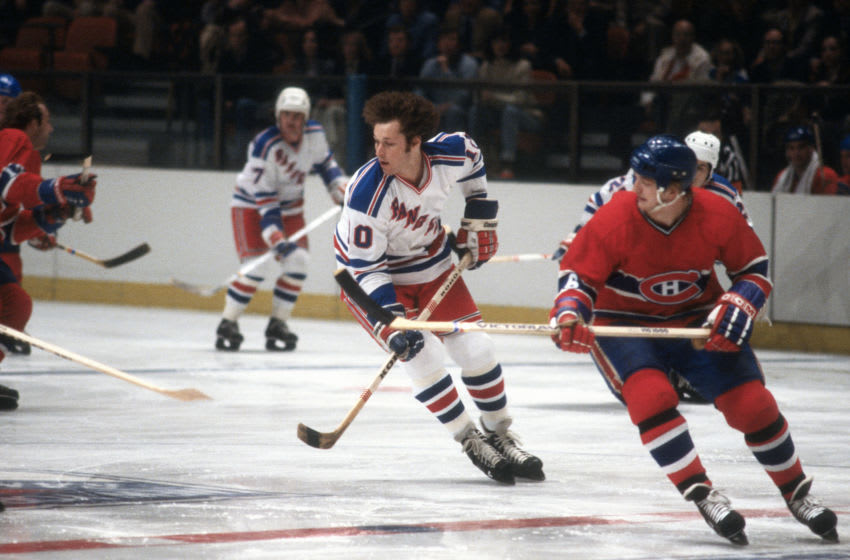 Ron Duguay #10 of the New York Rangers. (Photo by Focus on Sport/Getty Images)