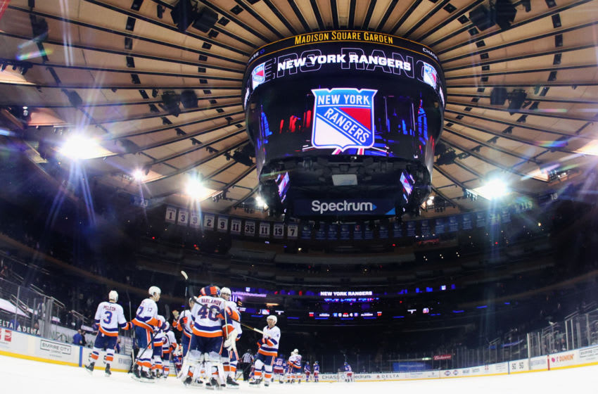 New York Rangers at Madison Square Garden . (Photo by Bruce Bennett/Getty Images)