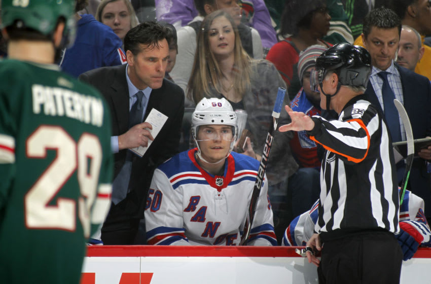 David Quinn of the New York Rangers .(Photo by Bruce Kluckhohn/NHLI via Getty Images)