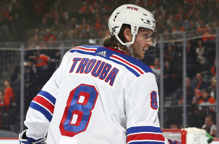 Jacob Trouba #8 of the New York Rangers Photo by Mitchell Leff/Getty Images)