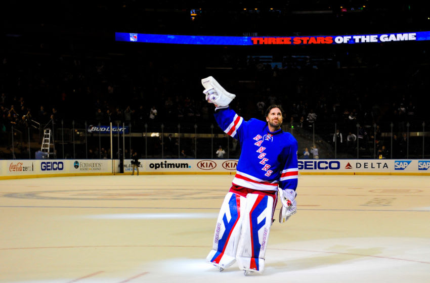 Henrik Lundqvist #30 of the New York Rangers (Photo by Alex Goodlett/Getty Images)