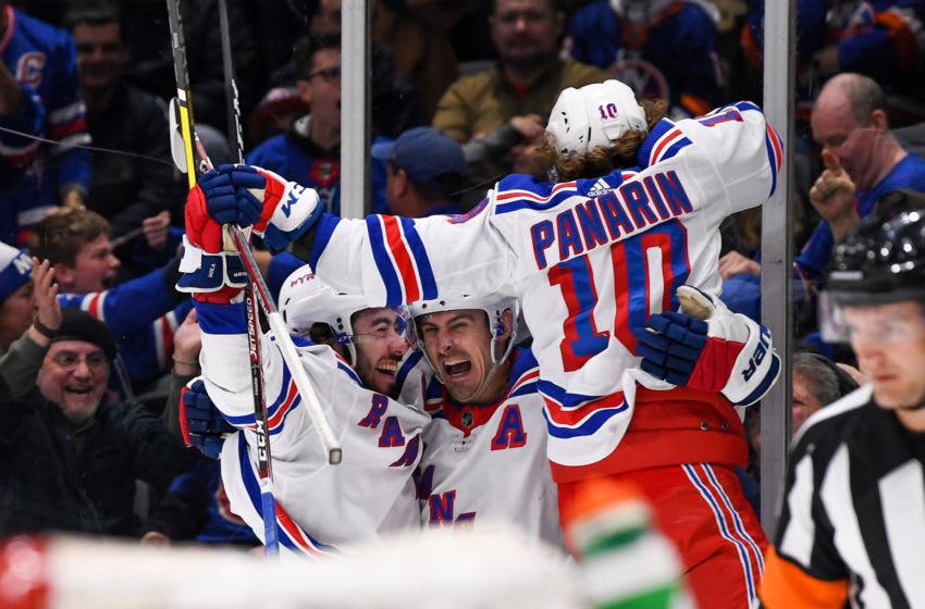 New York Rangers left wing Artemi Panarin (10) and center Mika Zibanejad Credit: Dennis Schneidler-USA TODAY Sports
