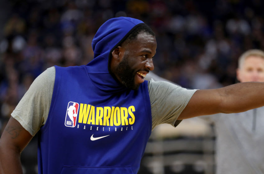 SAN FRANCISCO, CA - OCTOBER 07: Golden State Warriors' Draymond Green #23 gestures during an open practice at the Chase Center in San Francisco, Calif., on Monday, Oct. 7, 2019. (Photo by Jane Tyska/MediaNews Group/The Mercury News via Getty Images)