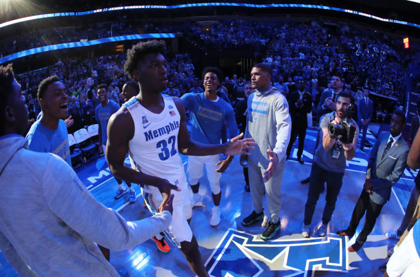 MEMPHIS, TN - NOVEMBER 5: James Wiseman #32 of the Memphis Tigers during team introductions against the South Carolina State Bulldogs on November 5, 2019 at FedExForum in Memphis, Tennessee. Memphis defeated South Carolina State 97-64. (Photo by Joe Murphy/Getty Images)
