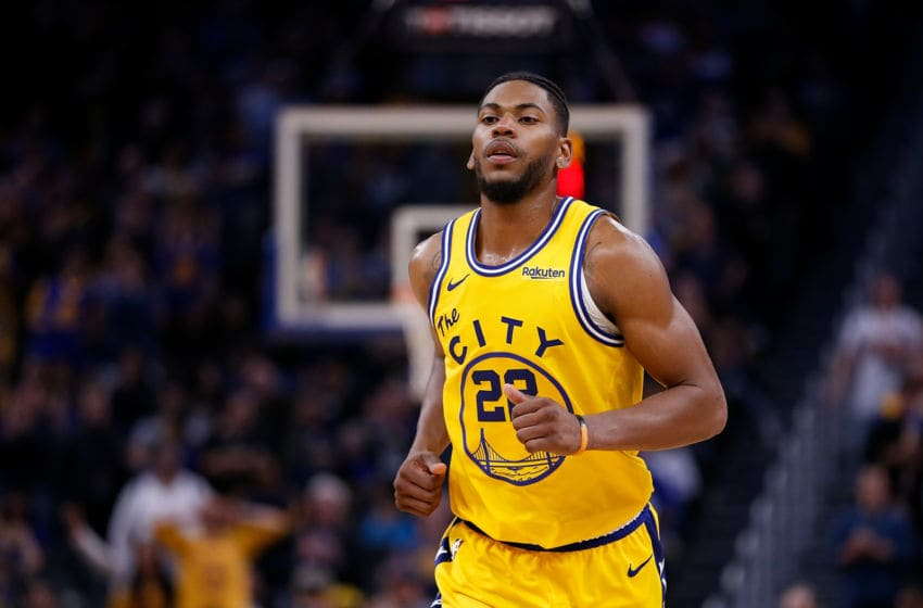SAN FRANCISCO, CALIFORNIA - DECEMBER 27: Glenn Robinson III #22 of the Golden State Warriors looks on in the second half against the Phoenix Suns at Chase Center on December 27, 2019 in San Francisco, California. NOTE TO USER: User expressly acknowledges and agrees that, by downloading and/or using this photograph, user is consenting to the terms and conditions of the Getty Images License Agreement. (Photo by Lachlan Cunningham/Getty Images)