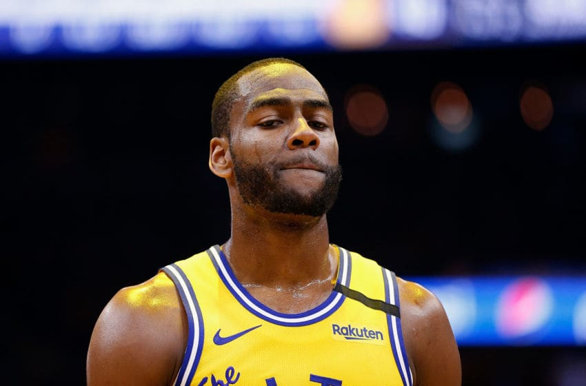 SAN FRANCISCO, CALIFORNIA - JANUARY 24: Alec Burks #8 of the Golden State Warriors looks on in the first half against the Indiana Pacers at Chase Center on January 24, 2020 in San Francisco, California. NOTE TO USER: User expressly acknowledges and agrees that, by downloading and/or using this photograph, user is consenting to the terms and conditions of the Getty Images License Agreement. (Photo by Lachlan Cunningham/Getty Images)