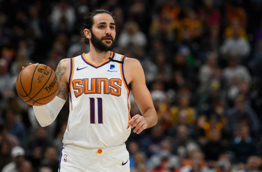 SALT LAKE CITY, UT - FEBRUARY 24: Ricky Rubio #11 of the Phoenix Suns in action during a game against the Utah Jazz at Vivint Smart Home Arena on February 24, 2020 in Salt Lake City, Utah. NOTE TO USER: User expressly acknowledges and agrees that, by downloading and/or using this photograph, user is consenting to the terms and conditions of the Getty Images License Agreement. (Photo by Alex Goodlett/Getty Images)