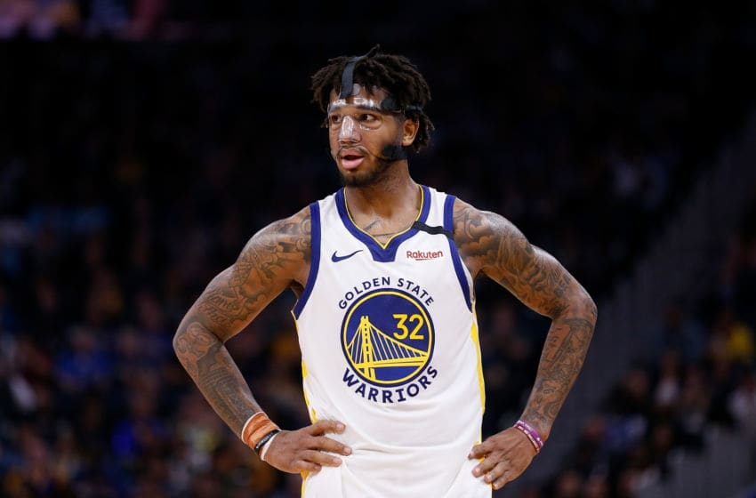 SAN FRANCISCO, CALIFORNIA - FEBRUARY 10: Marquese Chriss #32 of the Golden State Warriors looks on in the second half against the Miami Heat at Chase Center on February 10, 2020 in San Francisco, California. NOTE TO USER: User expressly acknowledges and agrees that, by downloading and/or using this photograph, user is consenting to the terms and conditions of the Getty Images License Agreement. (Photo by Lachlan Cunningham/Getty Images)