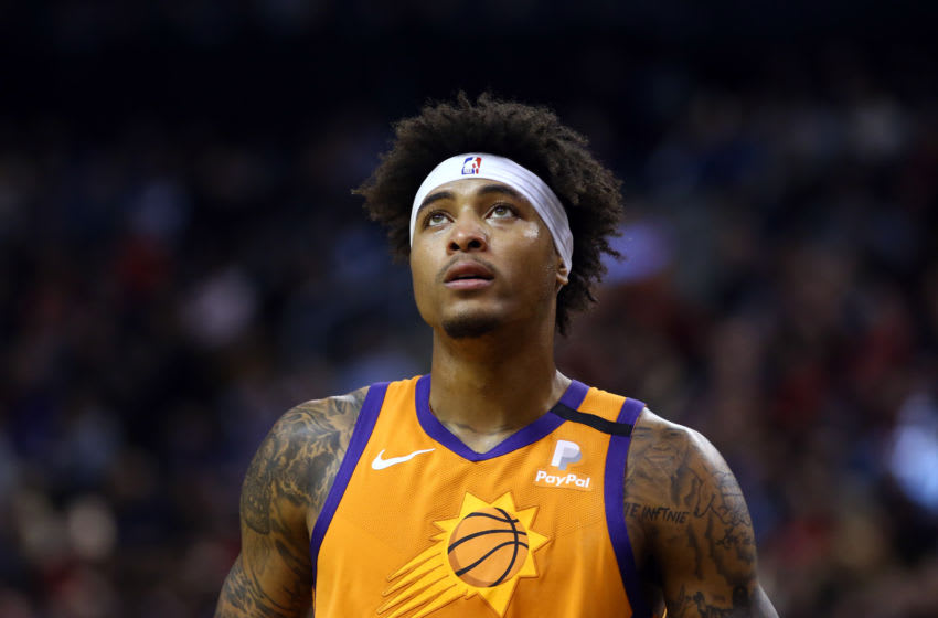 TORONTO, ON - FEBRUARY 21: Kelly Oubre Jr. #3 of the Phoenix Suns looks on during the second half of an NBA game against the Toronto Raptors at Scotiabank Arena on February 21, 2020 in Toronto, Canada. NOTE TO USER: User expressly acknowledges and agrees that, by downloading and or using this photograph, User is consenting to the terms and conditions of the Getty Images License Agreement. (Photo by Vaughn Ridley/Getty Images)