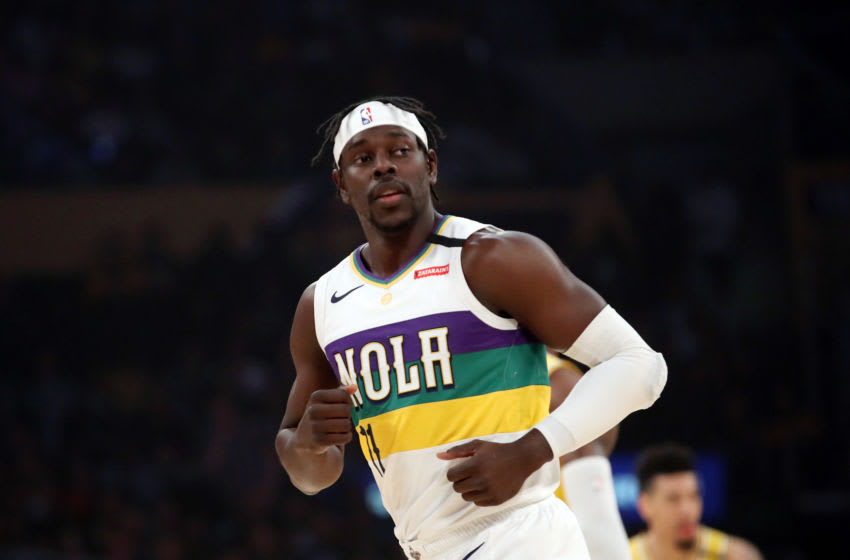 LOS ANGELES, CALIFORNIA - FEBRUARY 25: Jrue Holiday #11 of the New Orleans Pelicans runs on the court in a game against the Los Angeles Lakers during the first half at Staples Center on February 25, 2020 in Los Angeles, California. NOTE TO USER: User expressly acknowledges and agrees that, by downloading and or using this Photograph, user is consenting to the terms and conditions of the Getty Images License Agreement. (Photo by Katelyn Mulcahy/Getty Images)
