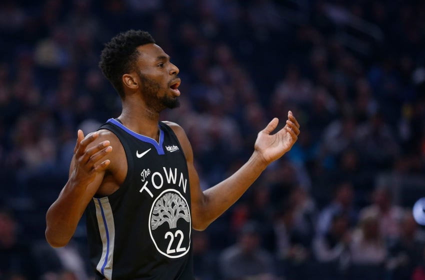 SAN FRANCISCO, CALIFORNIA - FEBRUARY 25: Andrew Wiggins #22 of the Golden State Warriors looks on in the first half against the Sacramento Kings at Chase Center on February 25, 2020 in San Francisco, California. NOTE TO USER: User expressly acknowledges and agrees that, by downloading and/or using this photograph, user is consenting to the terms and conditions of the Getty Images License Agreement. (Photo by Lachlan Cunningham/Getty Images)