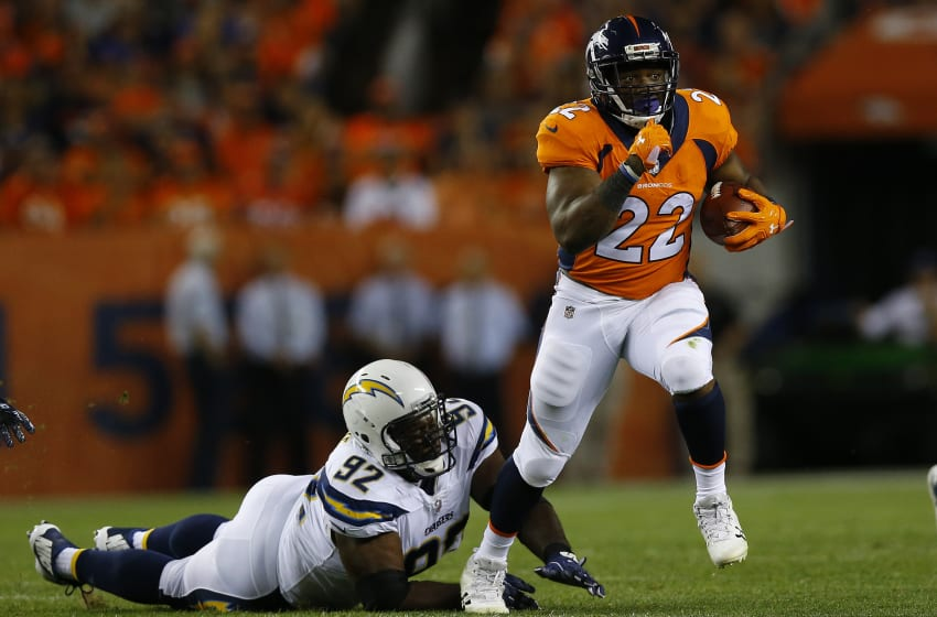DENVER, CO - SEPTEMBER 11: Running back C.J. Anderson
