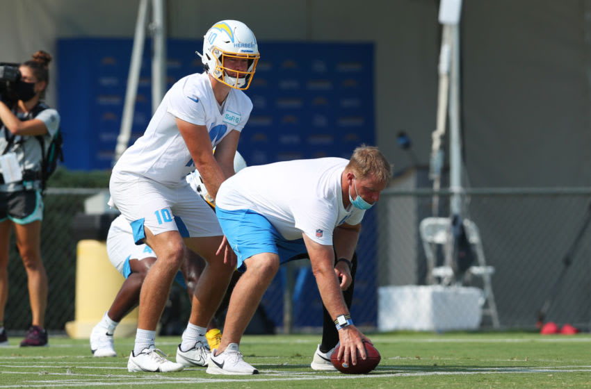 Justin Herbert #10 of the LA Chargers (Photo by Joe Scarnici/Getty Images)