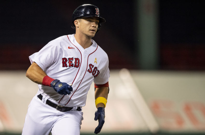 BOSTON, MA - SEPTEMBER 5: Bobby Dalbec #29 of the Boston Red Sox rounds the bases after hitting a solo home run during the second inning of a game against the Toronto Blue Jays on September 5, 2020 at Fenway Park in Boston, Massachusetts. The 2020 season had been postponed since March due to the COVID-19 pandemic. (Photo by Billie Weiss/Boston Red Sox/Getty Images)