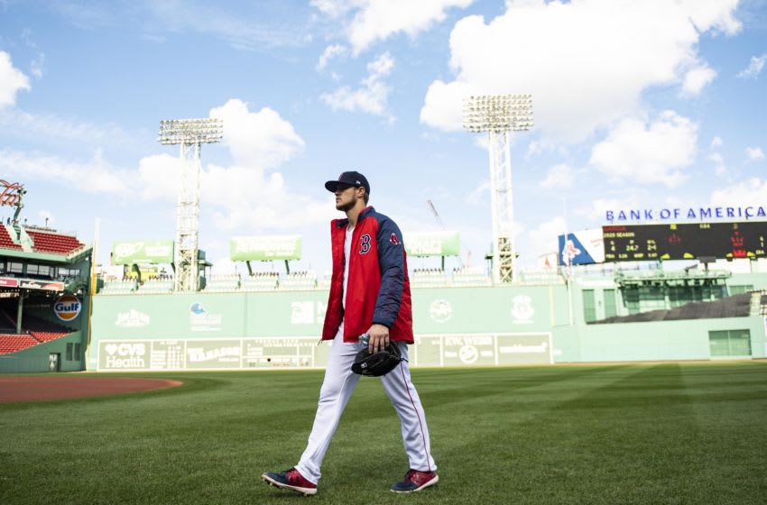 BOSTON, MA - SEPTEMBER 20: Tanner Houck #89 of the Boston Red Sox walks toward the dugout before a game against the New York Yankees on September 20, 2020 at Fenway Park in Boston, Massachusetts. It was his Fenway Park debut game. The 2020 season had been postponed since March due to the COVID-19 pandemic. (Photo by Billie Weiss/Boston Red Sox/Getty Images)