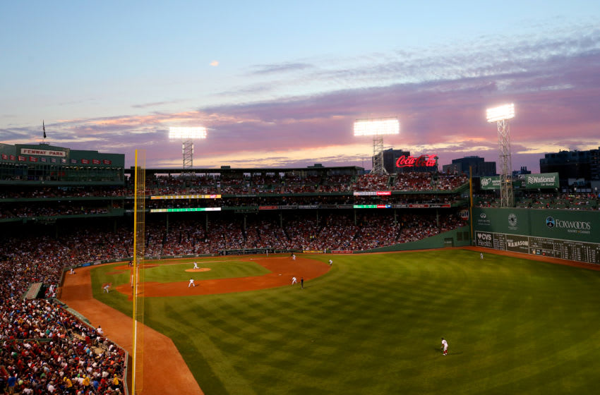 BOSTON, MA - JULY 19: A general view of Fenway Park during the fourth inning of the game between the Boston Red Sox and the Toronto Blue Jays on July 19, 2017 in Boston, Massachusetts. (Photo by Maddie Meyer/Getty Images)