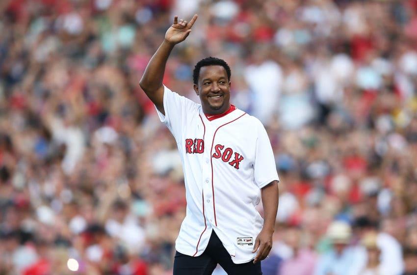 BOSTON, MA - JUNE 23: Former Boston Red Sox player Pedro Martinez