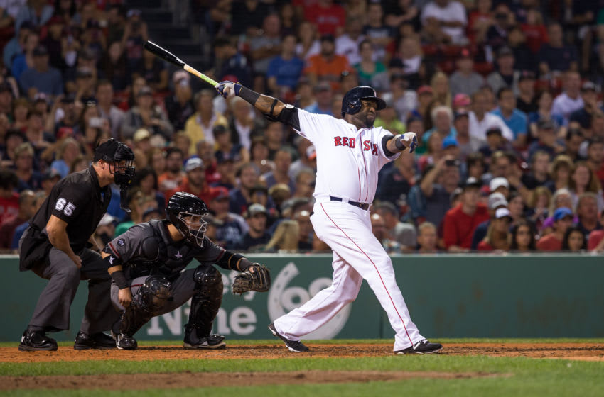 BOSTON, MA - AUGUST 13: David Ortiz