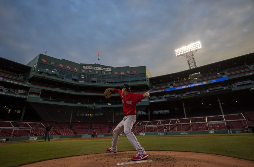Kyle Hart of the Boston Red Sox delivers a pitch.. (Photo by Billie Weiss/Boston Red Sox/Getty Images)