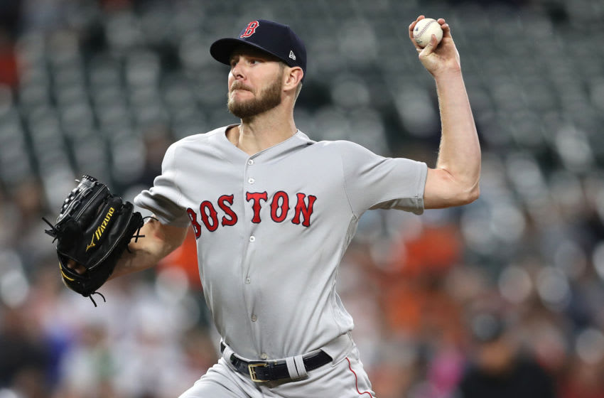 BALTIMORE, MARYLAND - MAY 08: Starting pitcher Chris Sale #41 of the Boston Red Sox works the third inning against the Baltimore Orioles at Oriole Park at Camden Yards on May 08, 2019 in Baltimore, Maryland. (Photo by Patrick Smith/Getty Images)