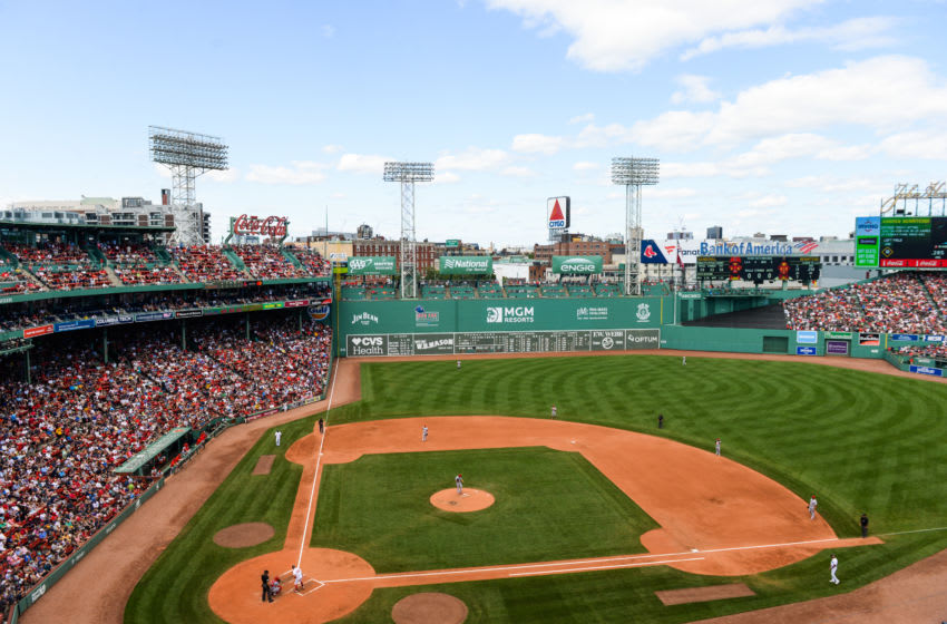 BOSTON, MA - AUGUST 11: A general view of Fenway Park in the fourth inning of the game between the Boston Red Sox and Los Angeles Angels at Fenway Park on August 11, 2019 in Boston, Massachusetts. (Photo by Kathryn Riley/Getty Images)