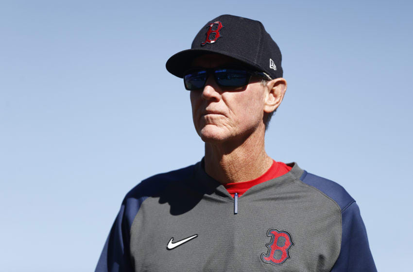 FORT MYERS, FLORIDA - FEBRUARY 29: Manager Ron Roenicke of the Boston Red Sox looks on against the New York Yankees during a Grapefruit League spring training game at JetBlue Park at Fenway South on February 29, 2020 in Fort Myers, Florida. (Photo by Michael Reaves/Getty Images)
