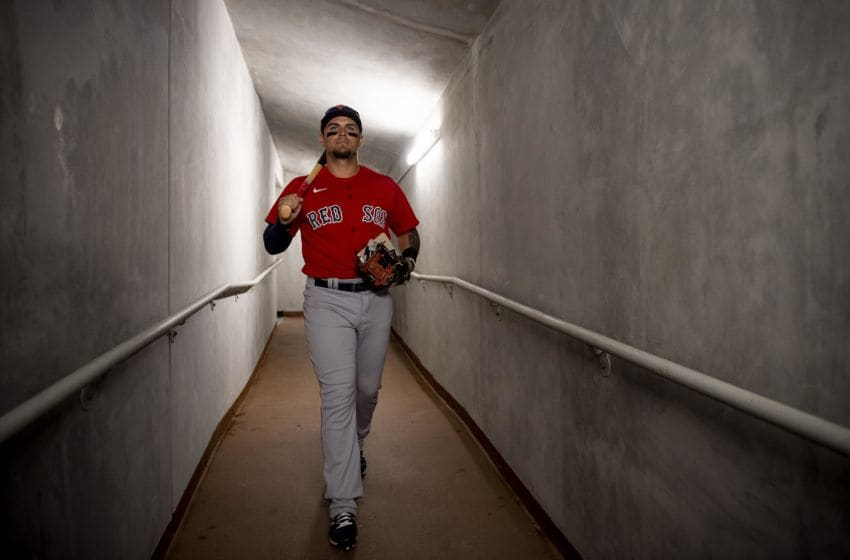 NORTH PORT, FL - MARCH 6: Michael Chavis #23 of the Boston Red Sox walks through the tunnel before a Grapefruit League game against the Atlanta Braves on March 6, 2020 at CoolToday Park in North Port, Florida. (Photo by Billie Weiss/Boston Red Sox/Getty Images)