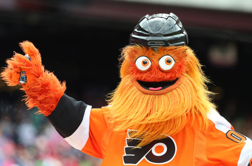 Gritty, the mascot of the Philadelphia Flyers (Photo by Rich Schultz/Getty Images)