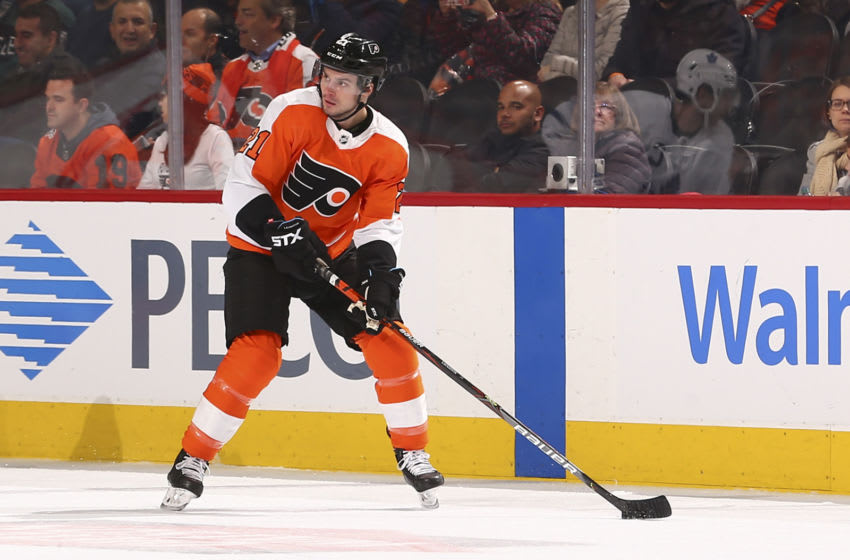 Scott Laughton, Philadelphia Flyers (Photo by Mitchell Leff/Getty Images)