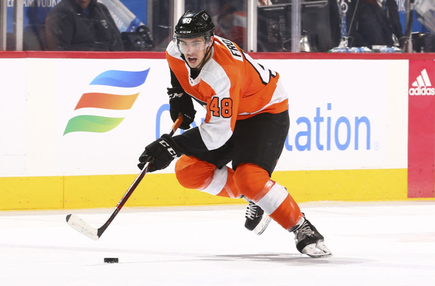Morgan Frost, Philadelphia Flyers (Photo by Mitchell Leff/Getty Images)