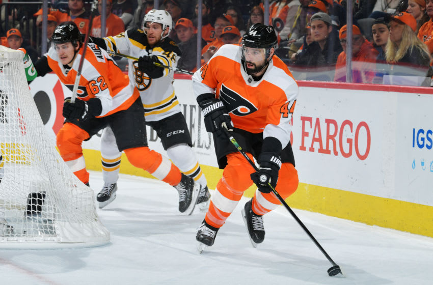 Nate Thompson, Philadelphia Flyers (Photo by Drew Hallowell/Getty Images)