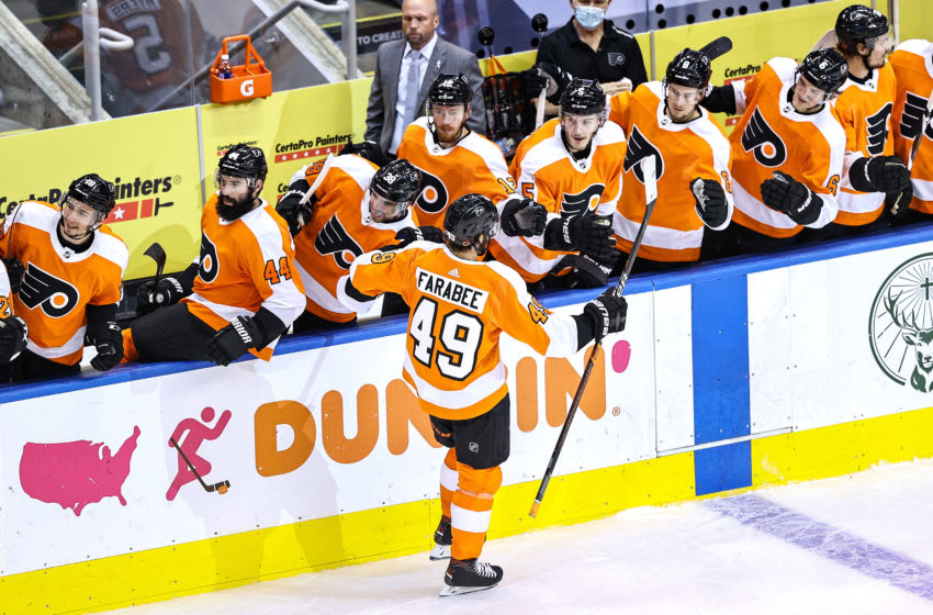 Joel Farabee, Philadelphia Flyers (Photo by Elsa/Getty Images)