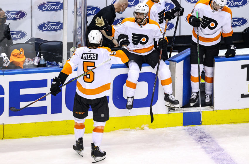 Philippe Myers, Philadelphia Flyers (Photo by Elsa/Getty Images)