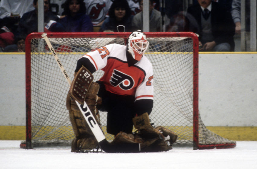 Ron Hextall, Philadelphia Flyers (Photo by Focus on Sport/Getty Images)