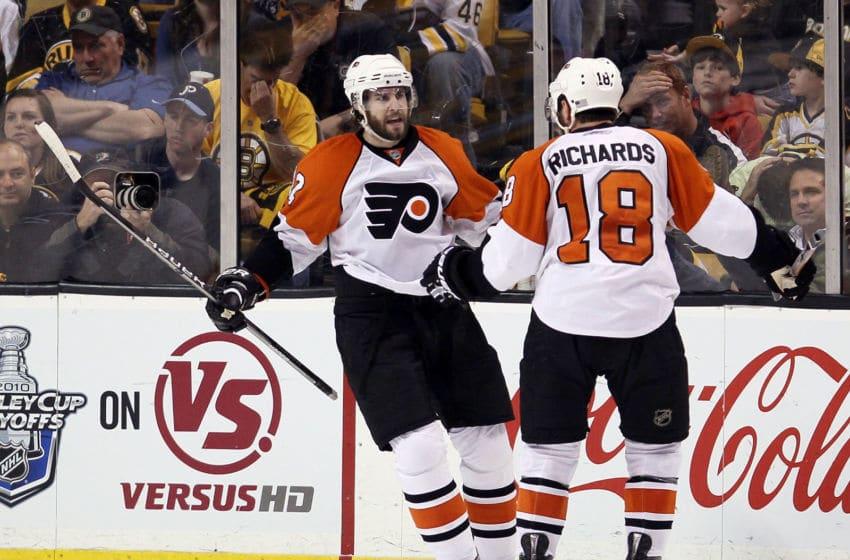 Simon Gagne, Philadelphia Flyers (Photo by Elsa/Getty Images)