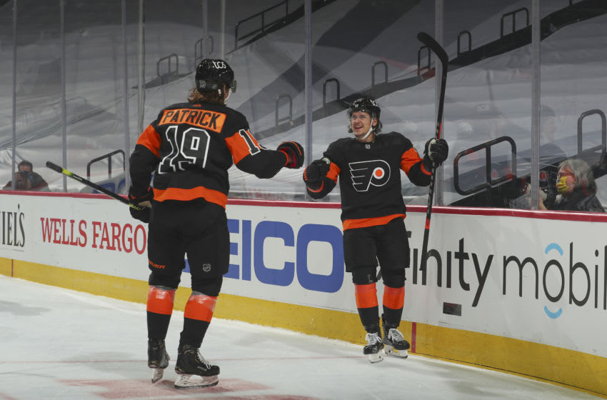 Travis Konecny and Nolan Patrick, Philadelphia Flyers (Photo by Mitchell Leff/Getty Images)