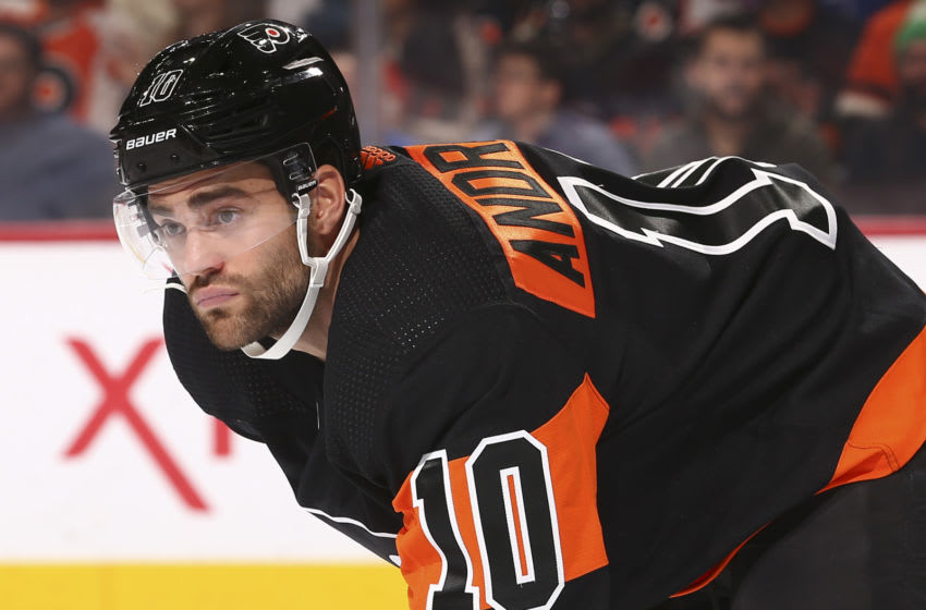 Andy Andreoff, Philadelphia Flyers (Photo by Mitchell Leff/Getty Images)