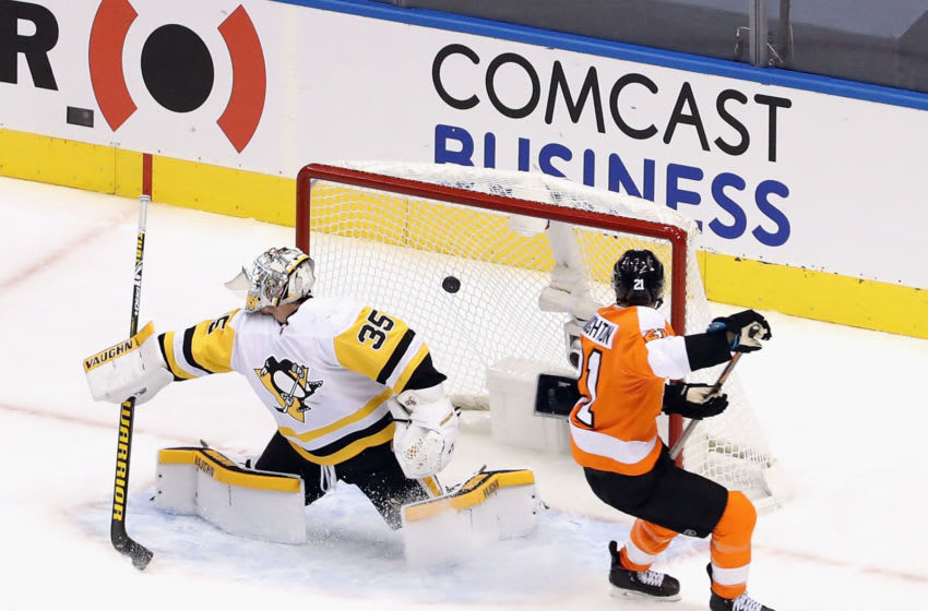 Scott Laughton, Philadelphia Flyers (Photo by Andre Ringuette/Freestyle Photo/Getty Images)