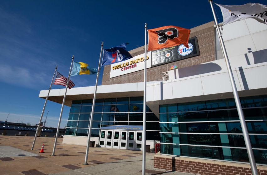Wells Fargo Center (Mandatory Credit: Bill Streicher-USA TODAY Sports)