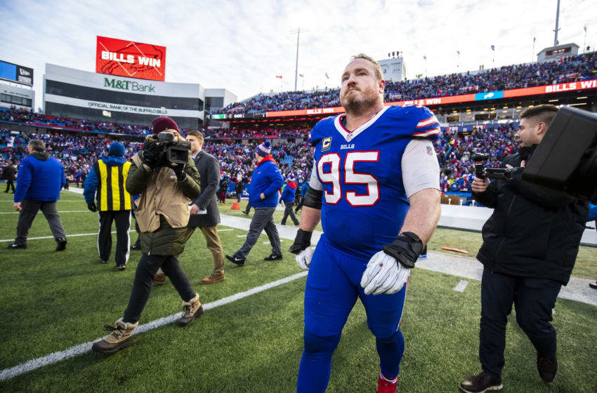 ORCHARD PARK, NY - DECEMBER 30: Kyle Williams #95 of the Buffalo Bills walks on the field after the game against the Miami Dolphins at New Era Field on December 30, 2018 in Orchard Park, New York. Buffalo defeats Miami 42-17. (Photo by Brett Carlsen/Getty Images)