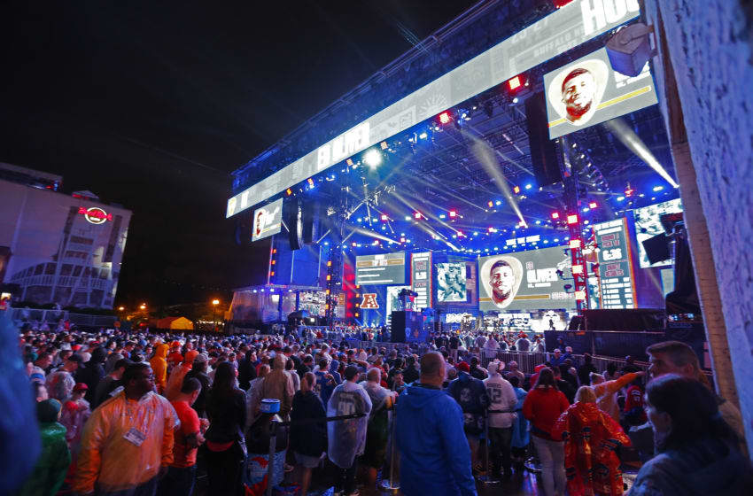 NASHVILLE, TENNESSEE - APRIL 25: A wide shot of the stage as Ed Oliver is selected by the Buffalo Bills on day 1 of the 2019 NFL Draft on April 25, 2019 in Nashville, Tennessee. (Photo by Frederick Breedon/Getty Images)