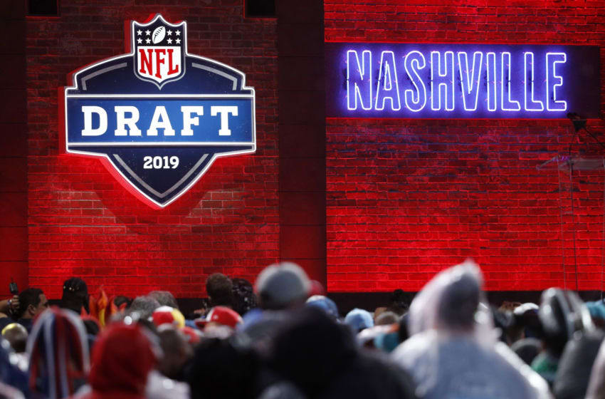 NASHVILLE, TN - APRIL 25: General view of signage during the first round of the NFL Draft on April 25, 2019 in Nashville, Tennessee. (Photo by Joe Robbins/Getty Images)