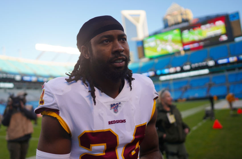 CHARLOTTE, NORTH CAROLINA - DECEMBER 01: Josh Norman #24 of the Washington Redskins after his game against the Carolina Panthers at Bank of America Stadium on December 01, 2019 in Charlotte, North Carolina. (Photo by Jacob Kupferman/Getty Images)