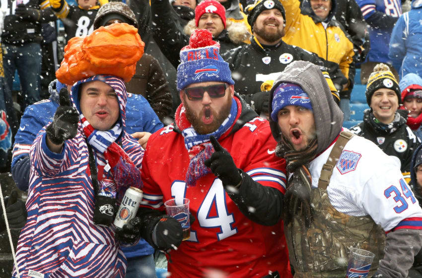 ORCHARD PARK, NY - DECEMBER 11: Buffalo Bills fans cheer during the first half against the Pittsburgh Steelers at New Era Field on December 11, 2016 in Orchard Park, New York. (Photo by Michael Adamucci/Getty Images)