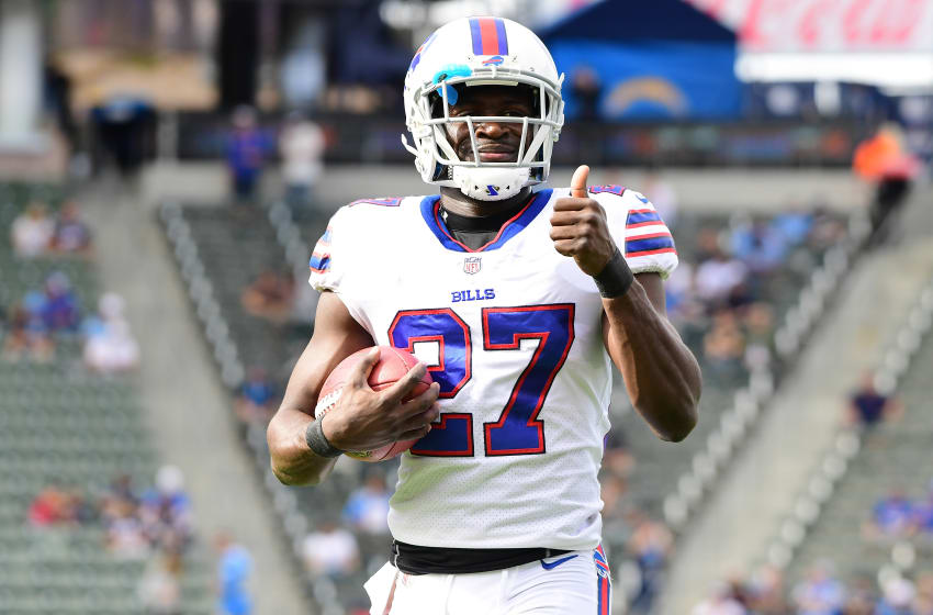 CARSON, CA - NOVEMBER 19: Tre'Davious White #27 of the Buffalo Bills is seen prior to the game against the Los Angeles Chargers at the StubHub Center on November 19, 2017 in Carson, California. (Photo by Harry How/Getty Images)