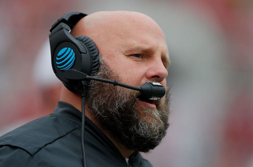 TUSCALOOSA, AL - NOVEMBER 18: Offensive coordinator Brian Daboll of the Alabama Crimson Tide looks on during the game against the Mercer Bears at Bryant-Denny Stadium on November 18, 2017 in Tuscaloosa, Alabama. (Photo by Kevin C. Cox/Getty Images)