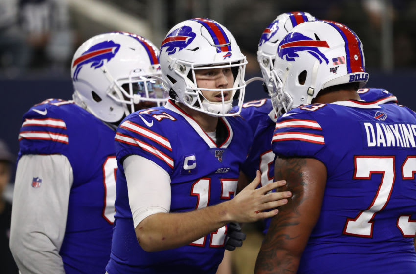 ARLINGTON, TEXAS - NOVEMBER 28: Josh Allen #17 of the Buffalo Bills at AT&T Stadium on November 28, 2019 in Arlington, Texas. (Photo by Ronald Martinez/Getty Images)